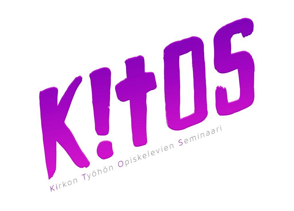 Kitos-päivän logo, violetti Kitos -teksti vinosti vasemmlat oikealle valkoisella pohjalla