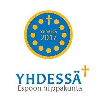 Yhdessä-palkinnon pyöreä logo