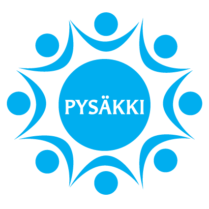 Hengellisen elämän päivät, Pysäkkipäivien logo, siniinen tähtikuvia, keskellä sana Pysäkki