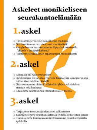 Kolme askelta monikieliseen seurakuntaelämään