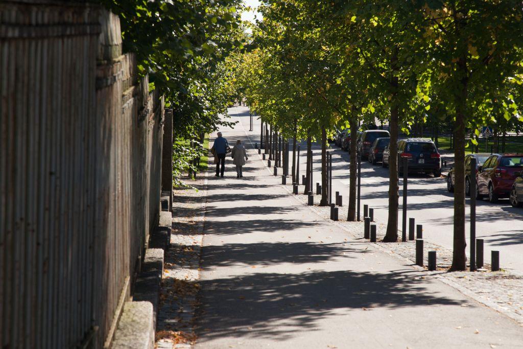 Kävelyllä kaksi ihmistä kuva Aarne Ormio