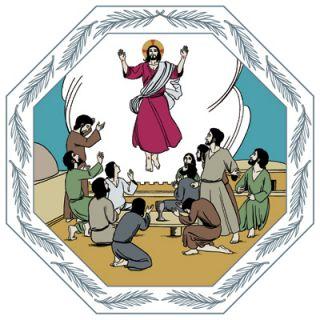 kuvituskuva helatorstaista Kristuksen taivaaseen astumisetaa